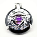 Quantum-Stones-Black-Obsidian-Amethyst-eye-of-Horus-Egyptian-amulet-BEYE-1A