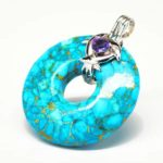 Quantum-Stones-Turquoise-Amethyst-Silver-Genesis-pendant-SOLTUR-1F