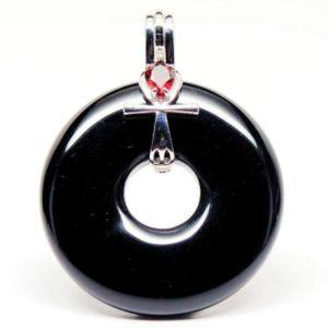 Ankh Obsidian & Garnet