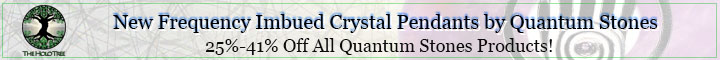 New frequency imbued crystal pendants by quantum stones