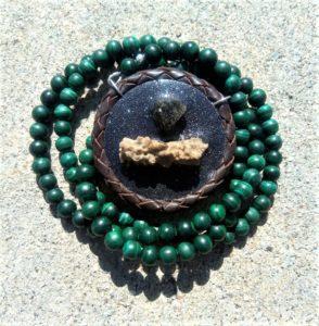 moldavite fulgurite front talisman